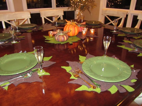 Fall Dinner party, chocolate cups, mushroom lasagna 022