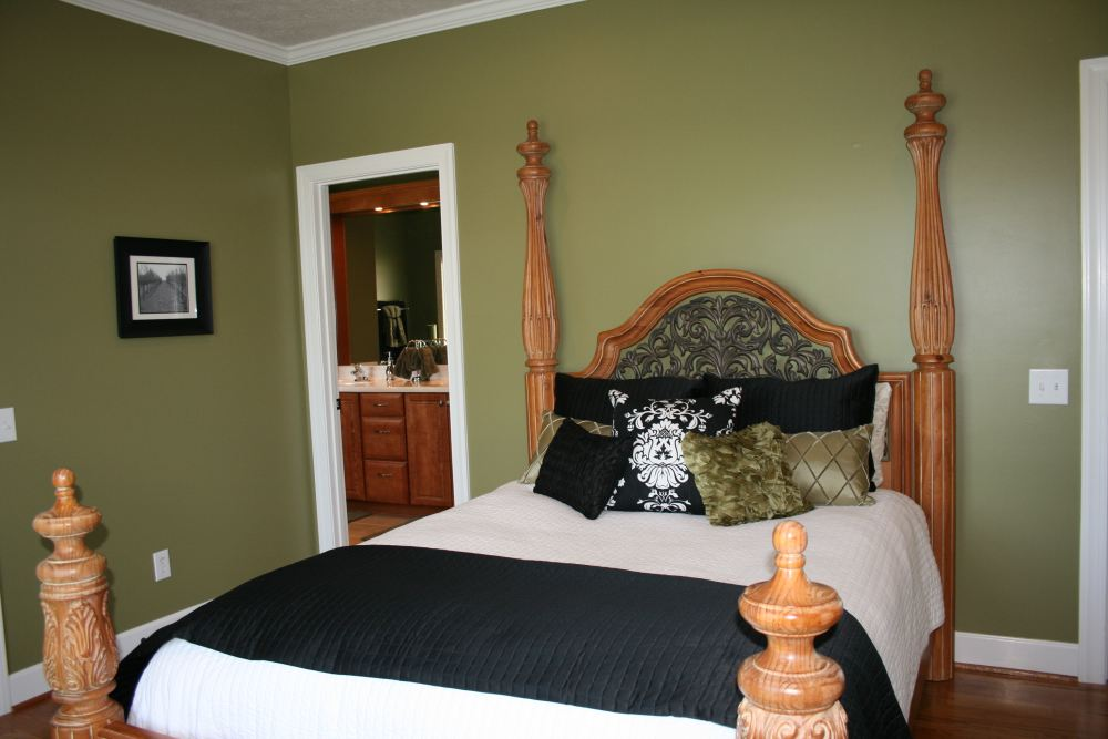 After Guest Room With Sage Green Wall Color